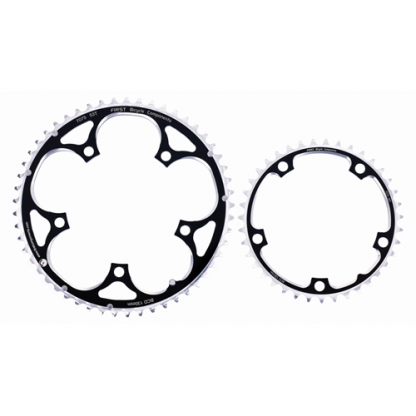 First Alloy chainrings: 5-Bolt and 130BCD
