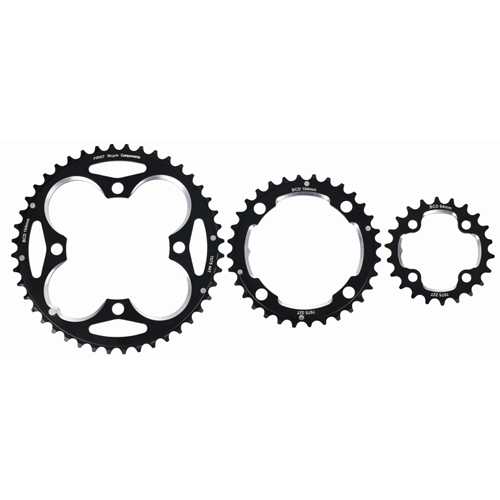 First 4-Bolt MTB alloy chainring - Set